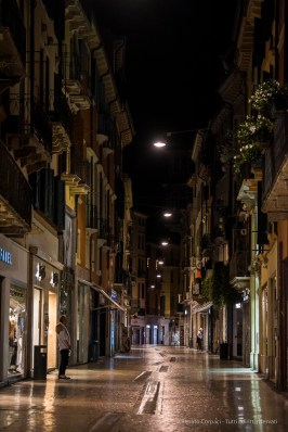 "Via Mazzini at night. Nikon D750 105 mm (80-400.0 mm ƒ/4.5-5.6) 1/200"" ƒ/4.8 ISO 6400"