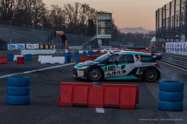 "Marco Bonanomi and Luigi Pirollo on a Citroen DS3 WRC 1.6, third at the Monster Energy Monza Rally Show 2016. Nikon D810, 50 mm (50.0 mm ƒ/1.8) 1/125"" ƒ/8 ISO 500"