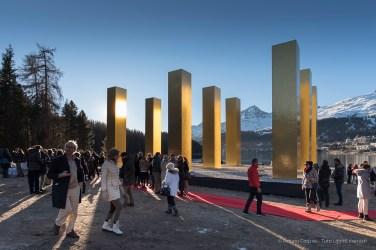 "Following the unveiling of ""The Sky Over Nine Columns"" by Heinz Mack. Sankt Moritz, December 10th 2016. Nikon D750, 20 mm (20.0 mm ƒ/1.8) 1/320"" ƒ/5.6 ISO 100"