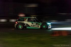 "Marco Bonanomi and Luigi Pirollo on a Citroen DS3 WRC 1.6, third at the Monster Energy Monza Rally Show 2016. Nikon D810, 50 mm (50.0 mm ƒ/1.8) 1/40"" ƒ/4 ISO 6400"