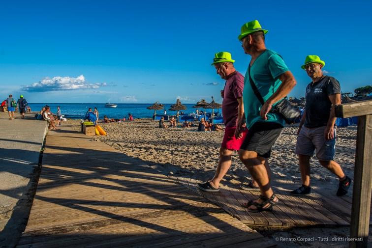 "Three Men Wearing Hats in Son Moll, Isle of Mallorca, september 2017. Nikon D810, 24 mm (24.0 mm ƒ/1.4) 1/250"" ƒ/6.3 ISO 64"