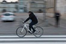 Ciclista a Copenaghen, 2015 - Nikon D810, 70mm (24-70mm ƒ/2.8) 1/20sec ƒ/14 ISO 800