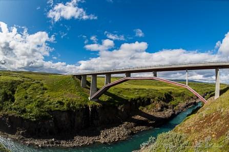 "The bridge over the Jokuldalur on Road 1 ""Ring Road"" in Brúarás. Nikon D810, 16 mm (16.0 mm ƒ/2.8) 1/160 sec ƒ/9 ISO 64"