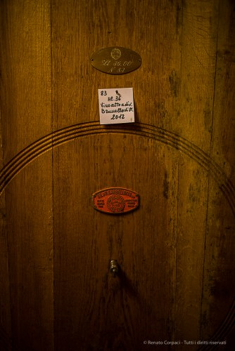 """You can't call it """"Brunello"""" prior to five years total ageing, of which two years in oak cask and four months in bottle. Nikon D810, 24mm (24.0mm ƒ/1.4) 1/80 ƒ/1.4 ISO 800"""