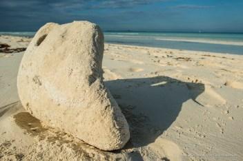 """An impromptu sand sculpture on the Las Gaviotas beach, on Cayo Santa Maria. Nikon D810, 24 mm (24.0 ƒ/1.4) 1/125"""" ƒ/10 ISO 64"""