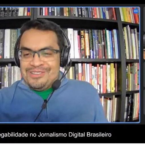 Conversei sobre jornalismo digital em webinário do CJE