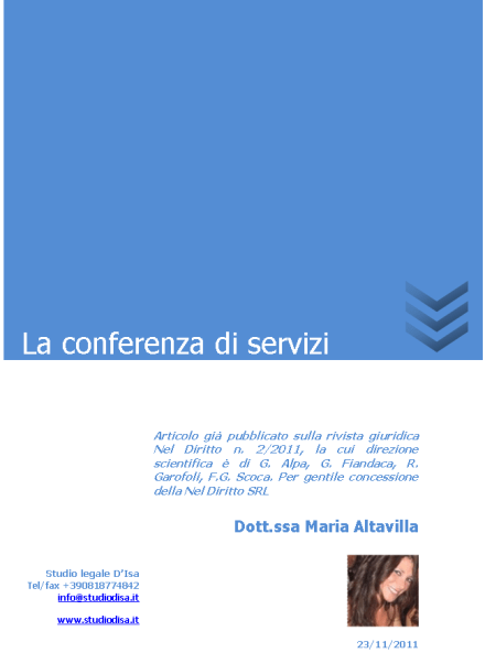 La conferenza di servizi