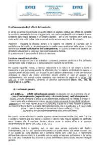 Il rafforzamento degli effetti del contratto, 1 la clausola penale; 2 la caparra confirmatoria; 3 la caparra penitenziale
