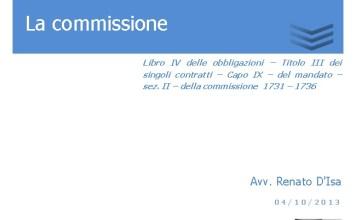 la commissione 1