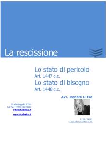 La rescissione
