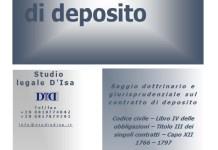 Il contratto di deposito 1