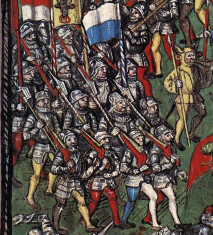 Bataillon lucernois avec arquebuse
