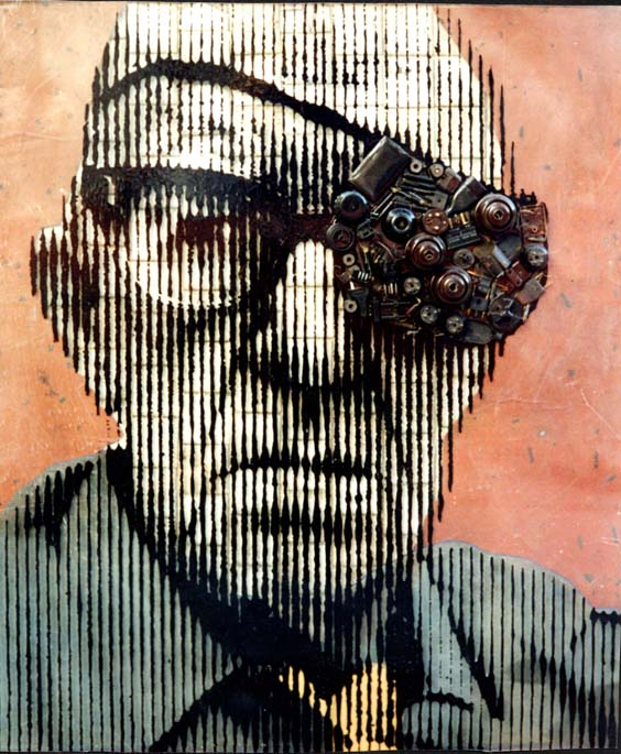Found Object Art Pop John Ford Eyepatch Eye Patch Portrait Objects French Artist Renaud Delorme