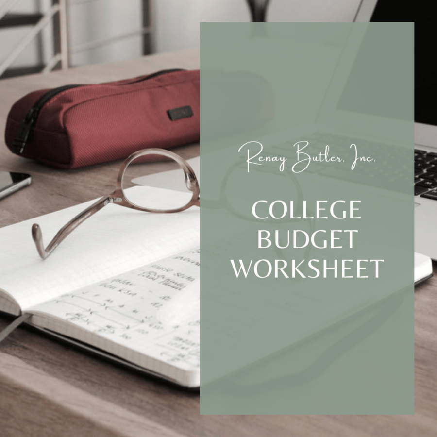 College Budget Worksheet Renay Butler