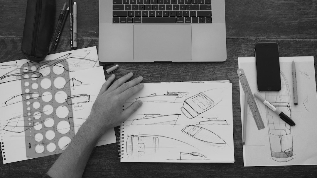 Triumph Thruxton 1200 R Desktop Sketching | Will Nicholson