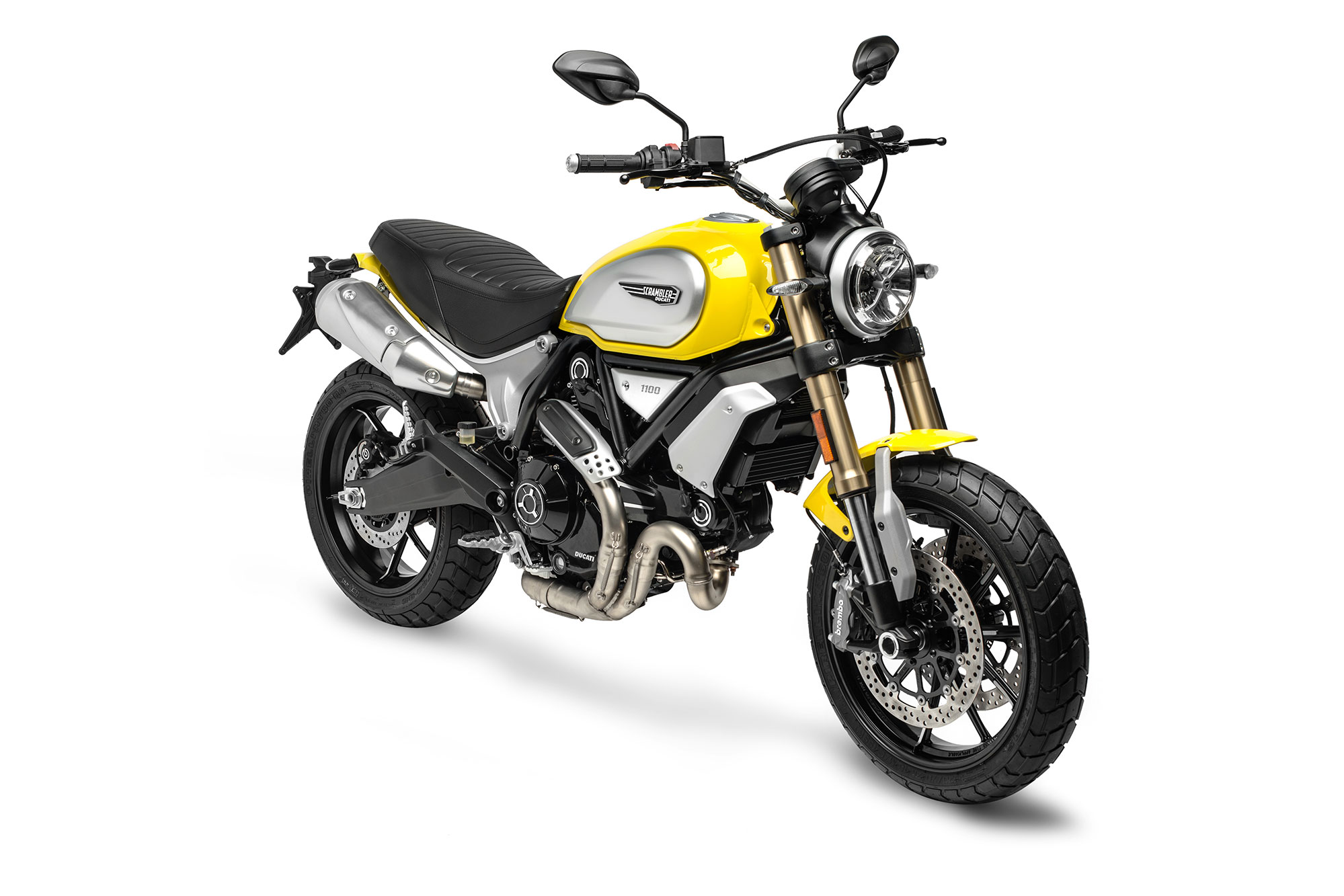 Scrambler Yellow 1100 Front Right