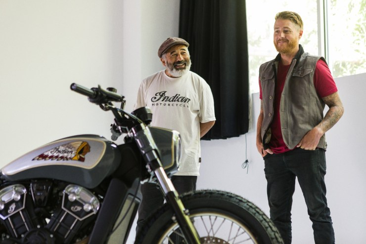 Indian Motorcycle Scout Bobber-Steve-Caballero-in-conjunction-with Roland Sands Design