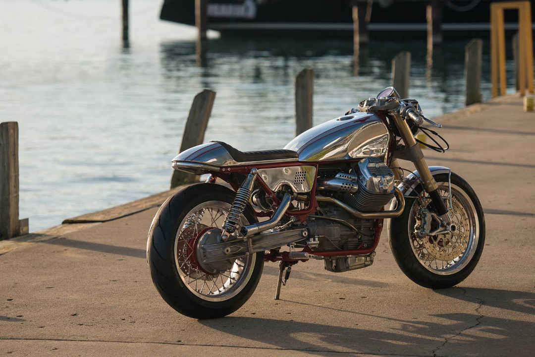 Rodsmith Motorcycles Moto Guzzi V9 Turbo Charged Retro Racer