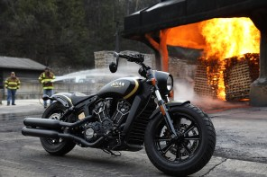 Indian Scout Bobber Custom Gold Black Jack Daniels [Fire Shot]