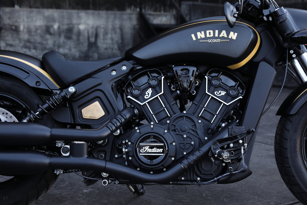 Indian Scout Bobber Custom Gold Black Jack Daniels [V-Twin]