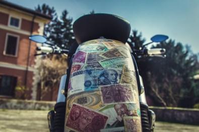 Moto Guzzi V9 Bobber Custom, 'Vecchio Conio' by Rustom [rear mudguard]