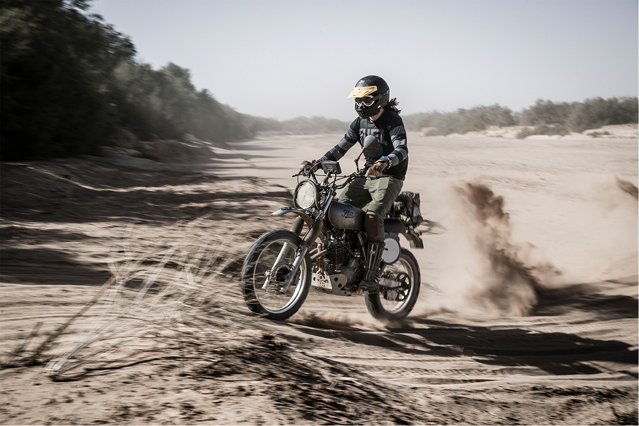 Scram Africa 2019 Custom Scrambler in Motion