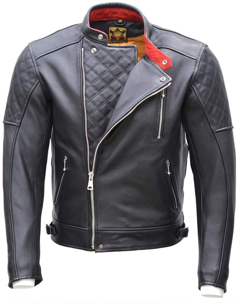 Unzipped Goldtop England Leather Jacket Black