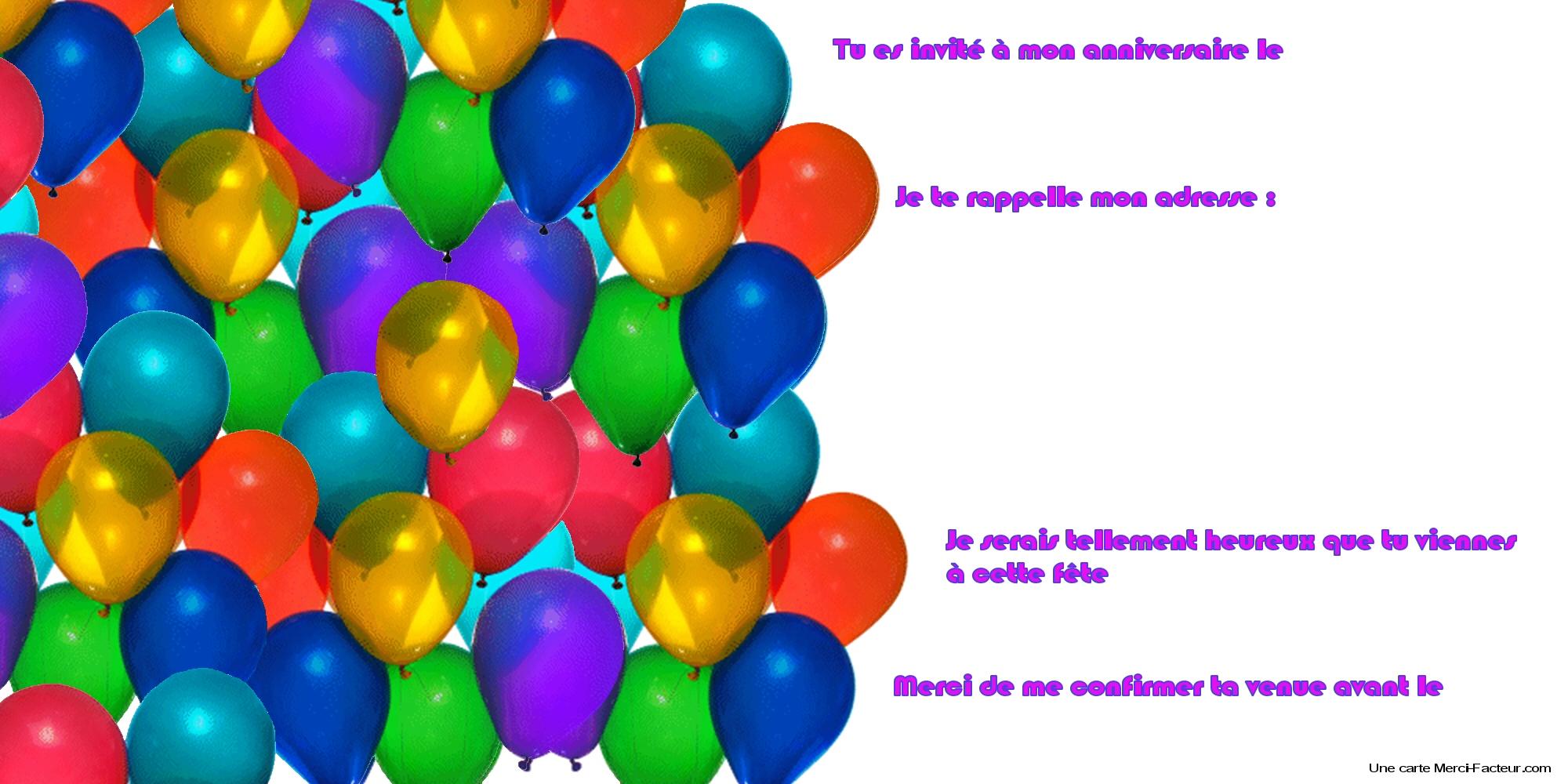 modele carte invitation anniversaire gratuite a imprimer zeeep web