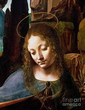 Leonardo Da Vinci - Detail of the Head of the Virgin