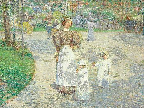 Childe Hassam - Spring in Central Park
