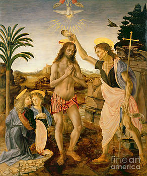 Leonardo da Vinci - The Baptism of Christ by John the Baptist