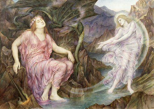 Evelyn De Morgan - The Passing of the Soul at Death