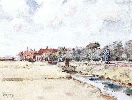 Childe Hassam - Canal Scene