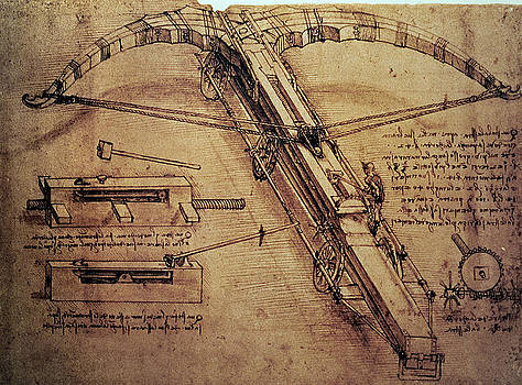 Leonardo Da Vinci - Design for a Giant Crossbow