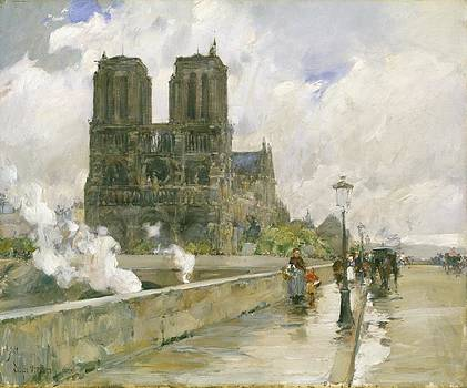 Childe Hassam - Notre Dame Cathedral - Paris