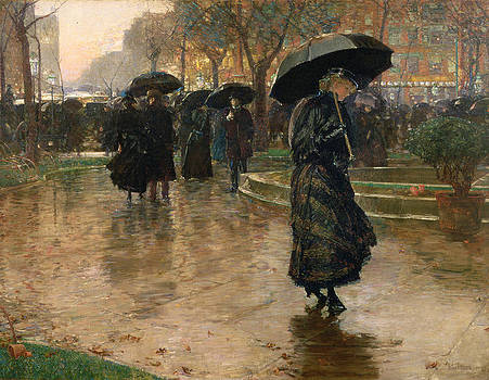 Childe Hassam - Rain Storm Union Square