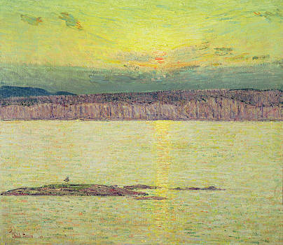 Childe Hassam  - Sunset
