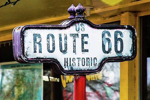 Historic Route 66 Sign by Laura Smith