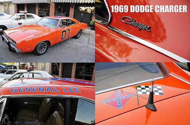 1969 dodge charger wall art pixels