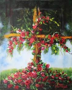 Image result for rose cross paitning