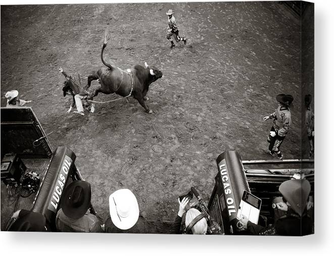 Sport Canvas Print Featuring The Photograph Pbr Kansas City Invitational By Jamie Squire