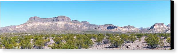 Big Bend Ranch State Park Panorama Canvas Print by Steven Green