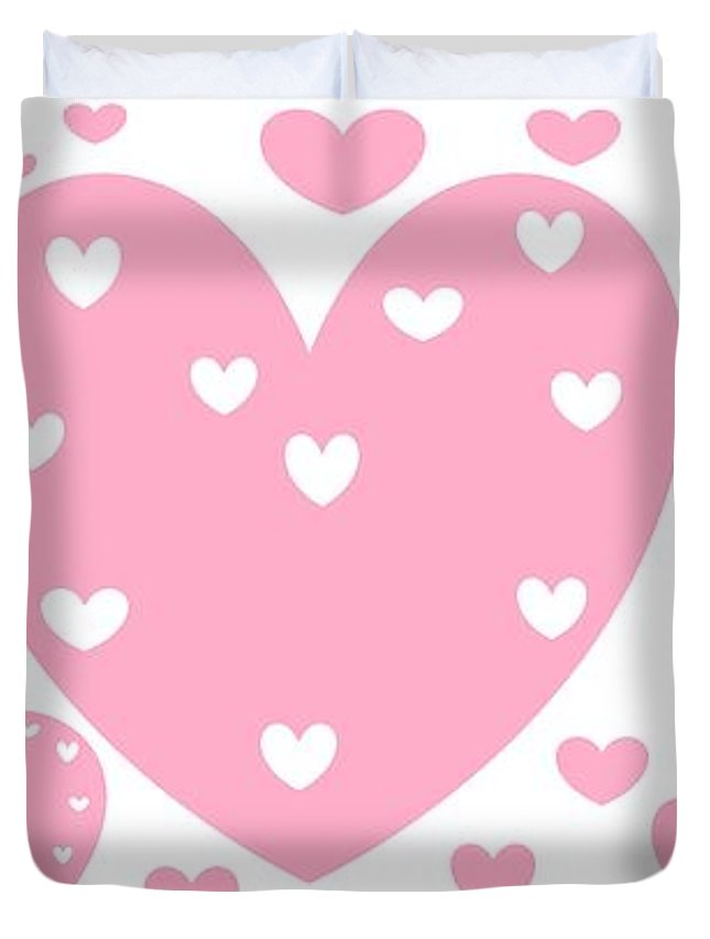 Happy Valentines Day 16 Or Just Hearts Duvet Cover