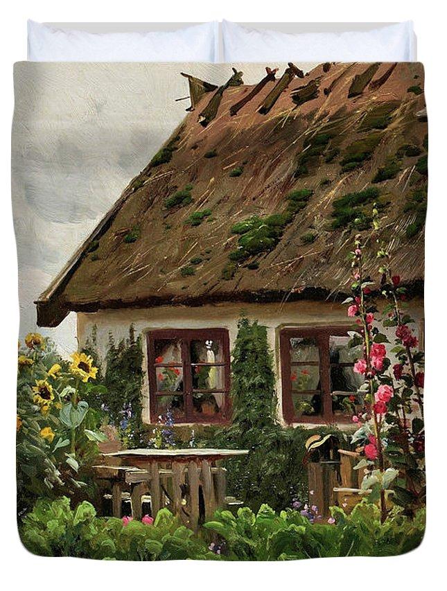 Pige Der Strikker I Dorabning Duvet Cover for Sale by