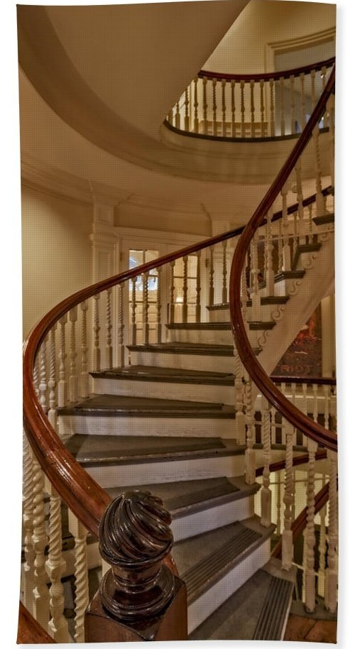 Old State House Spiral Staircase Bath Towel For Sale By Susan | Wooden Spiral Staircase For Sale | 3 Floor | Twist | Wrought Iron | 36 Inch Diameter | Free Standing
