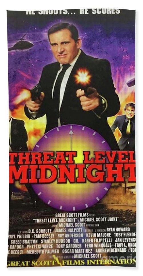 threat level midnight movie poster bath towel