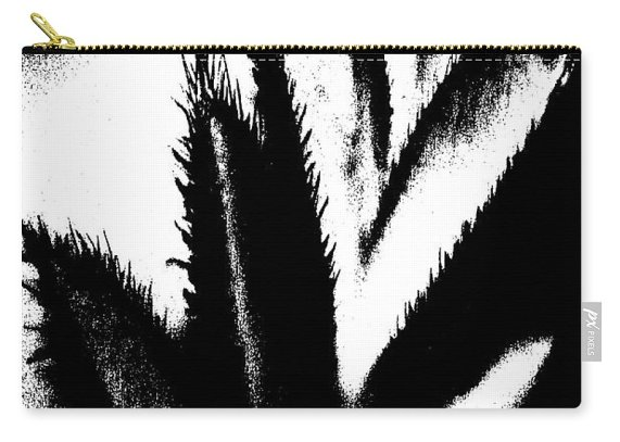 Abstract Carry-all Pouch featuring the photograph Fuzzy In Black And White by Holly Morris