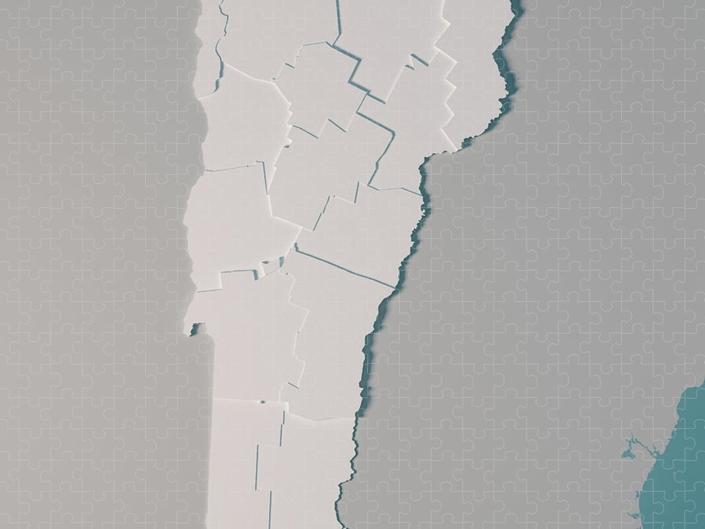 The green mountain state has the second smallest population of any state in the country. Vermont Us State Map Administrative Divisions Counties 3d Render Puzzle For Sale By Frank Ramspott