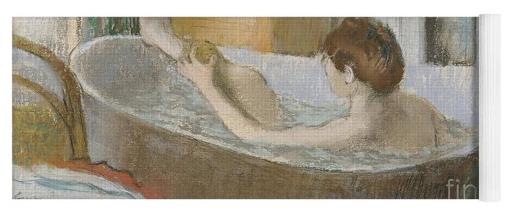 Woman In Her Bath Yoga Mat for Sale by Edgar Degas