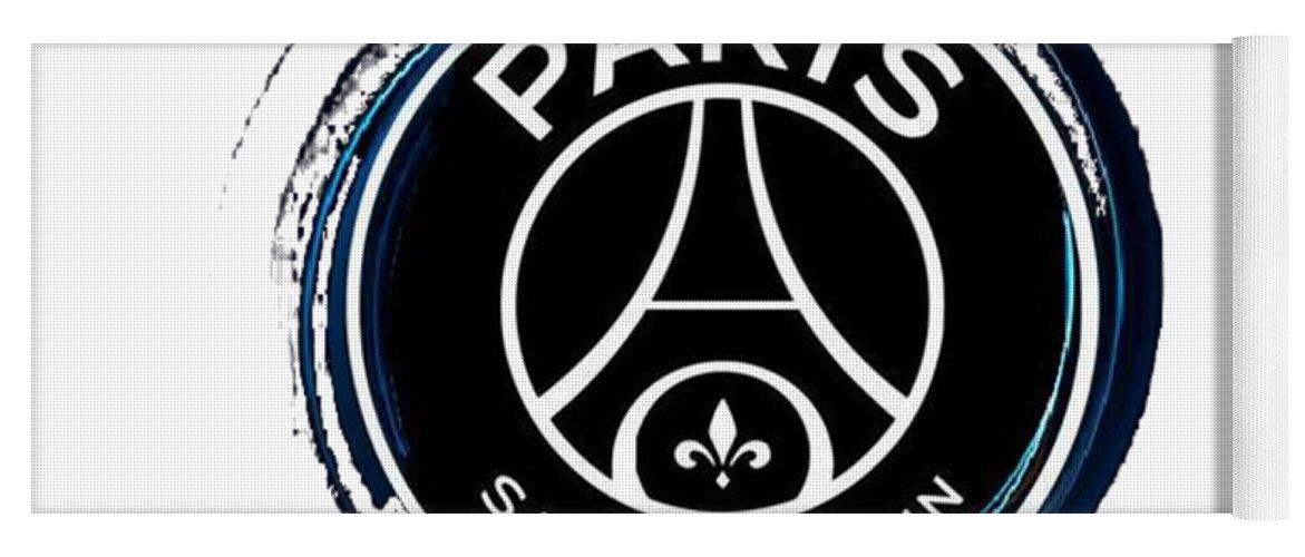 psg logo black yoga mat